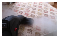 Steam cleaning upholstery